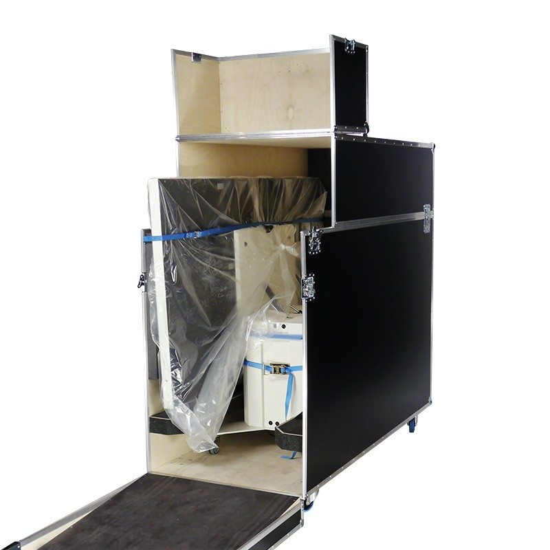 84 inch LG Multitouch table in flight case