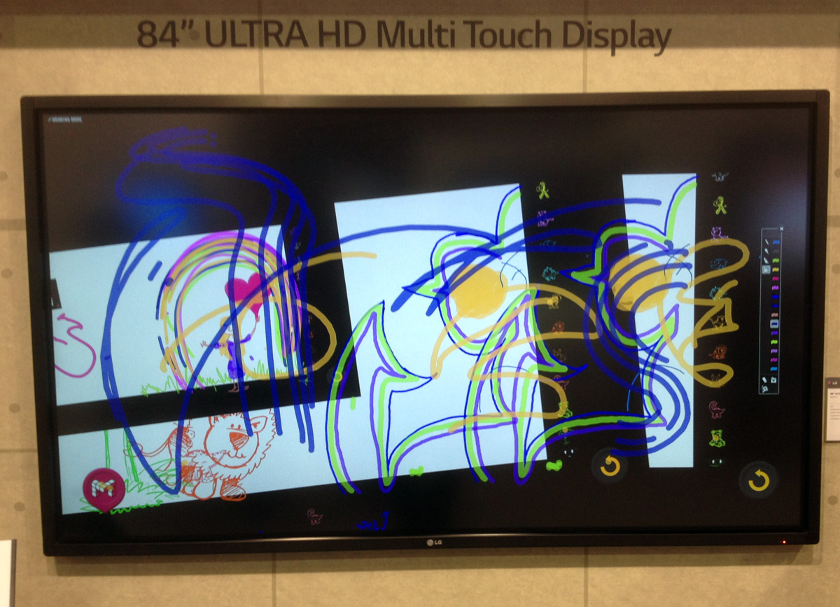 ultra hd multitouch screen