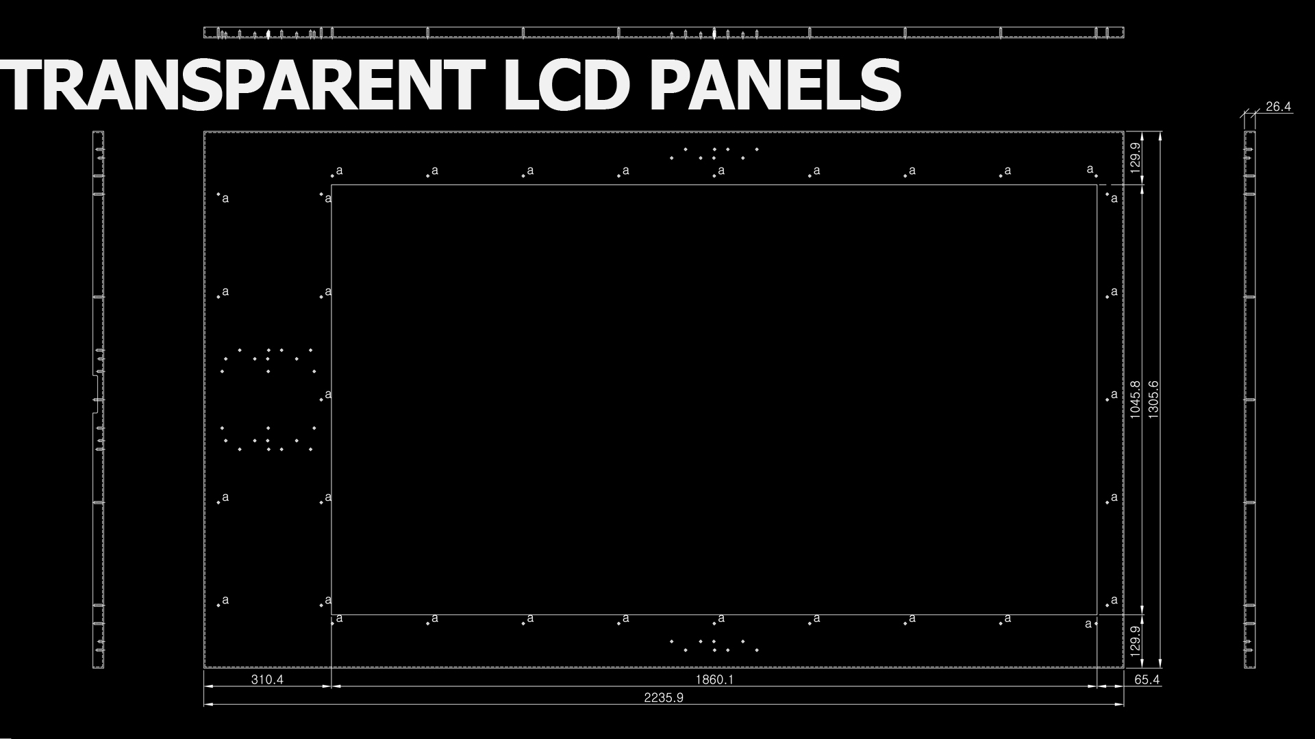 84 inch transparent display